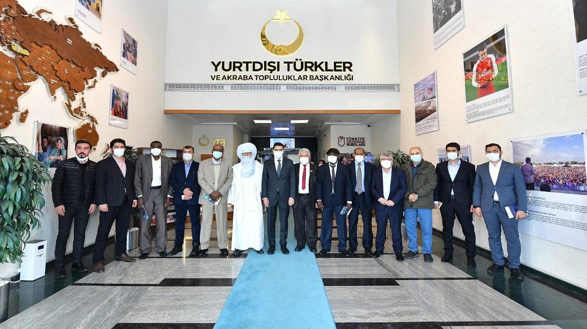 Yurtdışı Türkler ve Akraba Topluluklar Başkanı Abdullah Eren  Libya'dan Gelen Heyetle Görüştü