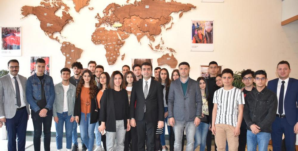 Fransa'dan Gelen Gençler Başkanlığımızı Ziyaret Etti