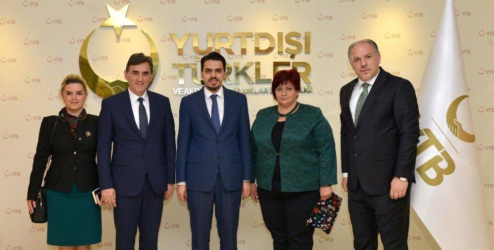 Kosova Devlet Bakanı Mahir Yağcılar'dan Başkan Eren'e Ziyaret