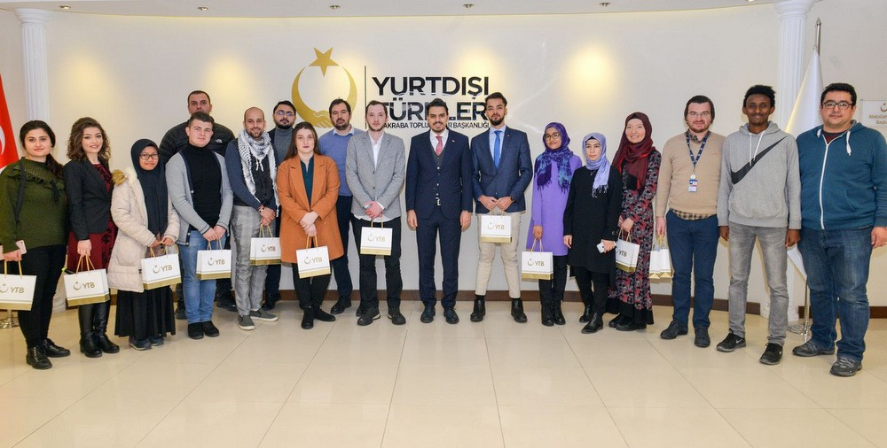 JOURNALISTS AND INTERNATIONAL STUDENTS MEET AT PRESIDENCY FOR TURKS ABROAD AND RELATED COMMUNITIES
